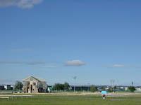 帯広競馬場の風景:競馬場という場所が、このイベントを独特のものにしている。