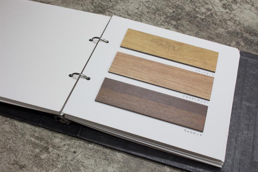 用意した床材は見た目も様々。一見木材のように見えるものも、実はタイルだったりする。